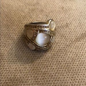 Gold/Pearl Banana Republic ring